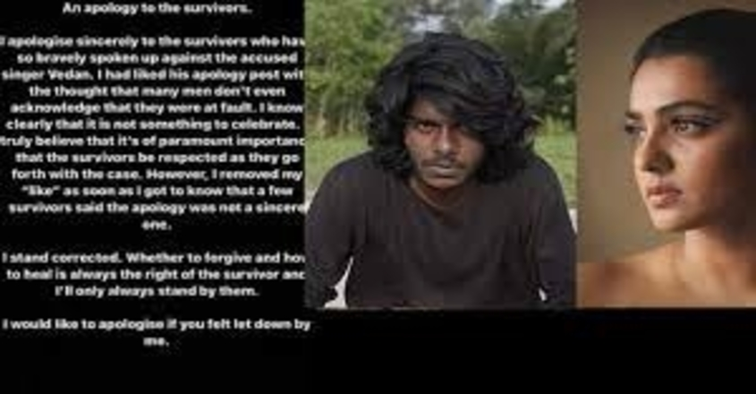 parvathy-theruvoth-apology-vedan-metoo