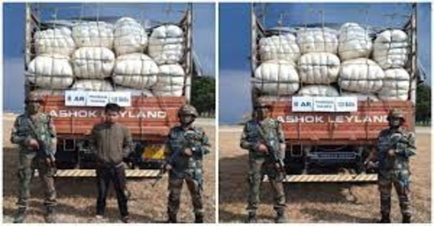 assam-rifles-seized-tonsured-hair-along-mizoram-myanmar-border
